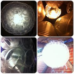 Plastic Cup Chandelier for your Sukkah. 160 plastic cups, many more staples, 1 light bulb. It has a beautifully sculpted and carefully thought out design, brings more light, family, friends and guests will gawk and sit in awe at your state of the art, one of a kind, creative, tasteful and inexpensive chandelier. And it's cool! =) Brought to you by kingwillyix