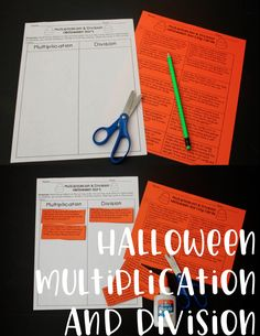 Halloween Multiplication and Division Word Problem Sort! Love this for October math centers or homework!