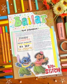 How To Bullet Journal, Bullet Journal Aesthetic, Bullet Journal School, Bullet Journal Inspo, Bullet Journal Ideas Pages, Book Journal, Cute Notes, Pretty Notes, Lilo Y Stitch