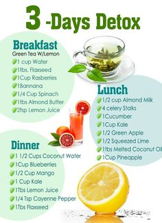 Detox your body within just 3 days!   Just follow the chart below.  http://www.ratanayurvedic.com/
