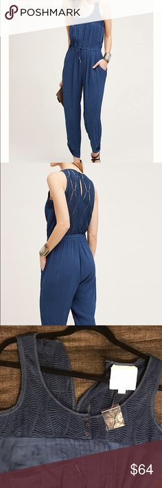 Taj Jumpsuit by Hei Hei new condition One too many jumpsuits in my closet. I bought it for summer vacation, but didn't have a chance to wear it. Beautiful details, soft on a skin, brand new never worn. Rayon gauze with nylon knit back; cotton lining Embroidered detail Side pockets Anthropologie Pants Jumpsuits & Rompers