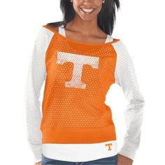 Tennessee Volunteers Women's Holy Sweatshirt - Tennessee Orange/White