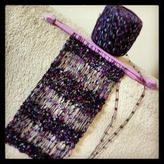 Confecção de cachecol de trico