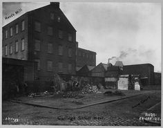 Creator: Alexander R. Hogg for Belfast Corporation  Date: 29th January 1913  Description: Hamill Street Area. Streets in photo: College Street West, Anne Court, Hamill Street. Premises in photo: Ross's Mills.  PRONI Ref: LA/7/8/HF/3/90  Copying and copyright: Please see www.proni.gov.uk/index/research_and_records_held/copying_...  For Copy Orders, contact: Email: proni@dcalni.gov.uk  For fees and charges see: www.proni.gov.uk/index/about_proni/are_there_any_fees_and...