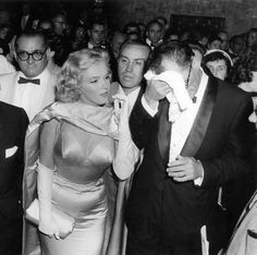 Marilyn Monroe and Arthur Miller at the premiere of The Prince and The Showgirl, June 13, 1957.