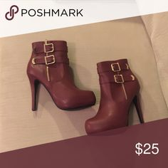 "BURGUNDY HIGH HEEL ANKLE BOOT Really, could your Fall ""Shoedrobe"" be complete without this sexy burgundy ankle boot? I think not!  Shoes Ankle Boots & Booties"