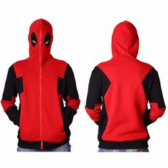Deadpool Hooded Sweater X-men COS Cotton Hoodie Zipper Sweater M/L/XL/XXL NEW US #Unbranded #Hoodie