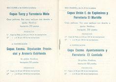 """San Julián 1960 Concursos de San Julián Tiradas de Pichón en el campo de """"La Pernala"""" del 3 al 6 de septiembre"""