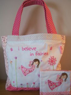 Matching Fairy handbag and purse set - children s gift - with free fairy shimmer