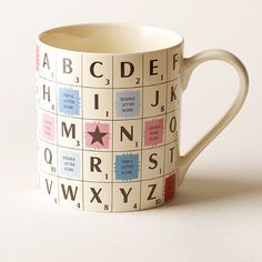 This Scrabble Mug makes a great stocking filler! #giftidea #scrabble