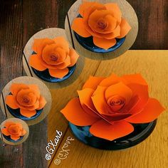 Orange Paper Flower A flower is a flower, isn't it??? <3