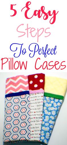 Use these 5 easy steps to sew the perfect pillow cases. #sewingtutorial #sewingpattern #pillowcase