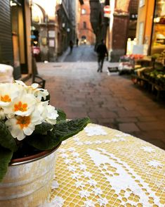 Traveling through time ⏳ City Photography, Mobile Photography, City Streets, Travel Goals, Bologna Italy, Morning Flowers, Table Decorations, Italy Travel, Spring