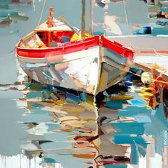 Handmade Oil Painting On Canvas Abstract Painting Modern Wing Art Inst – caperral Boat Painting, Oil Painting On Canvas, Painting & Drawing, Knife Painting, Pinterest Pinturas, Boat Art, Abstract Canvas, Abstract Oil, Acrylic Art
