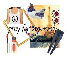 """""""peace out"""" by avalon-800 ❤ liked on Polyvore featuring J Brand, L'Oréal Paris and Zipz"""