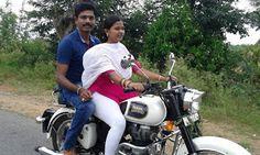 indian lady riding bike 389 - IndiaGirlsOnBike - Women Empowerment Of India