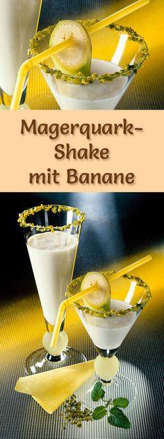 Rezept für einen Magerquark-Shake mit Banane mit viel Eiweiß - und weitere leckere Magerquark-Rezepte zum Abnehmen ...