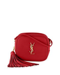 Monogram Blogger Crossbody Bag, Red by Saint Laurent at Neiman Marcus.