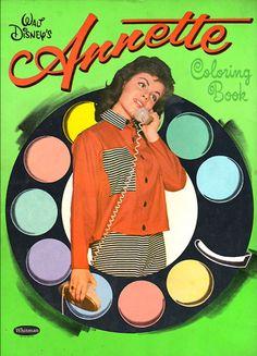 Annette Funicello Coloring Book