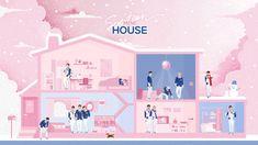 #SEVENTEEN Mini House Aesthetic Gif, Pink Aesthetic, Cartoon Wallpaper, Cool Wallpaper, Seventeen Wallpapers, Drawing Practice, Kpop Fanart, Anime Chibi, K Idols