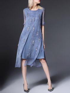 Glitter-finished Silk-blend Midi Dress