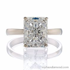 Another beautiful solitaire 5A CZ in Sterling Silver or Gold! #myfauxdiamond http://evpo.st/YPdzpO