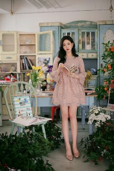 Korean Ootd, Korean Outfits, Tacky Sweater, Feminine Style, Feminine Fashion, Girly Outfits, How To Look Classy, Beautiful Asian Girls, Asian Beauty