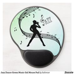 Jazz Dance Green Music Gel Mouse Pad Dance All Day, Jazz Dance, Dance Photos, Christmas Card Holders, Music, Silver, Design Products, Things To Sell, Green
