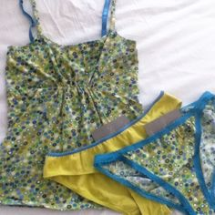 Anthropologie PINKERTON 3-PC Cami/Panty Set (S) Lounge set consisting of : camisole + 2 bikini briefs. Camisole is NWOT size SMALL. Both panties are NWT size S. Retailed at $28, $12 & $12. Anthropologie Intimates & Sleepwear Panties