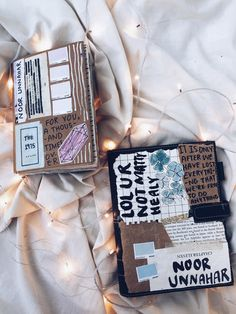 BLOGGED: best of art journal - december glows from Noor's Place blog by Noor Unnahar  // journal cover, tumblr aesthetics hipsters artists, instagram white flatlay, creative creativity, art diy craft journaling ideas inspiration, words, quotes, hipsters matty healy //