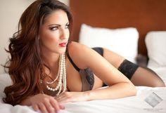 pearl necklaces boudoir ideas