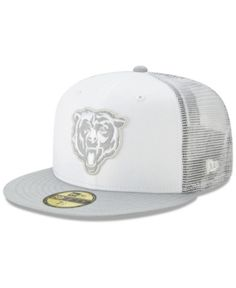 New Era Chicago Bears White Cloud Meshback Cap - White/Gray Chicago Bears Game, Nfl Caps, Stylish Caps, Gucci Hat, Dress With Sneakers, Sports Fan Shop, Unisex Baby, Shoes Heels Boots, Baby Shop