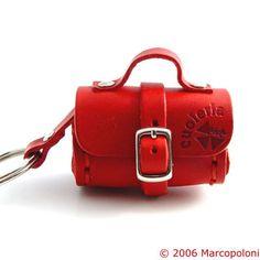 Miniature keychains: Bauletto - Italian leather small travel case keychain