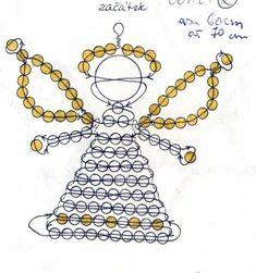 Korálky-návody-zvířátka : Korálky Věrča | Moje výrobky a rady  ANDĚL, ANDĚLÍČEK, vánoce  angel, christmas