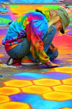 Ideas Street Art Colorful Artists For 2019 Happy Colors, True Colors, All The Colors, Bright Colors, 3d Street Art, Color Street, Taste The Rainbow, Over The Rainbow, World Of Color