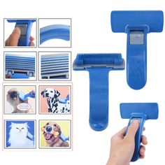 Grooming Self Cleaning Durable Plastic Pet Combs Brush Dog Cat Grooming Trimmer Soft Pin Pet cleaning brush