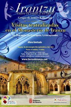 Visitas teatralizadas al Monasterio de Irantzu, (Abárzuza, Navarra), los días 26 y 27 de octubre de 2013