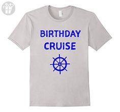Mens Birthday Cruise Cruise Ship Accessories T-Shirt Small Silver - Birthday shirts (*Amazon Partner-Link)
