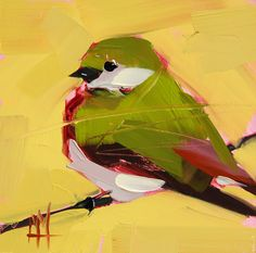 Violet Green Swallow no. 4 original bird oil painting by Angela Moulton #prattcreekart