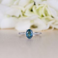 Promise Ring tourmaline Ring Maid of Honor gift by TrudyGems
