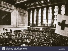 Trading floor of the New York Stock Exchange, USA, early 1930s. Stock Photo