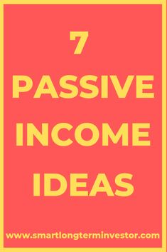 7 of the best passive income ideas including affiliate marketing real estate s Business Entrepreneur, Business Marketing, Online Business, Affiliate Marketing, Online Marketing, Make Money Online, How To Make Money, Business Inspiration, Business Ideas