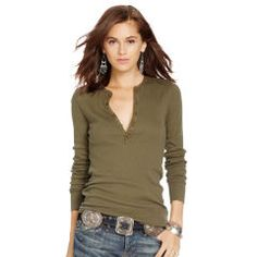 04b3b217af7 Cotton Long-Sleeved Henley - Polo Ralph Lauren Long-Sleeve - RalphLauren.com