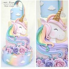 67 Ideas Cupcakes Birthday Cake Design For 2019 Unicorn Birthday Parties, Birthday Party Themes, Girl Birthday, Birthday Design, Cupcake Birthday Cake, Cupcake Cakes, Cupcakes Decorados, Cute Cakes, Celebration Cakes