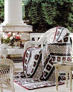 afghan crochet - hermoso diseño y combinación de colores