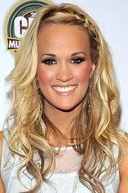 Carrie Underwood's Braided Bangs Pretty Hairstyles, Braided Hairstyles, Quick Hairstyles, Hairstyles Pictures, Style Hairstyle, Hairstyles 2016, Wedding Hairstyles, Curly Hair Braids, Braid Hair
