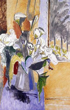 """bofransson: """"Bouquet (Arum Lilies) Henri Matisse - 1912 """""""