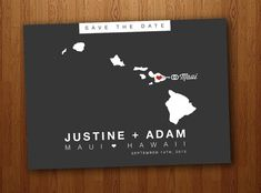 Hawaii Save the Date Wedding Printable Postcard on Etsy, $16.64 AUD