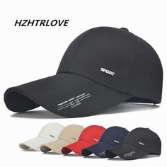 High Quality Long Brim Letter Sport Shade Snapback Cap Mens Hat For Fish  Outdoor Line Baseball Cap Sun Dad Hat Bone Gorras 35b4e39d2c01