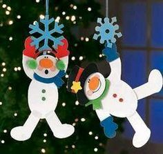 Ideas para navidad - N. Christmas Crafts For Kids, Christmas Activities, Christmas Snowman, Winter Christmas, Holiday Crafts, Christmas Holidays, Christmas Decorations, Christmas Ornaments, Snowman Crafts